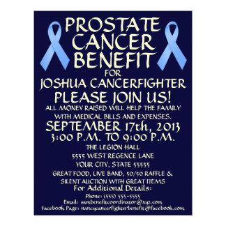 Cartoon Prostate Cancer Benefit Flyer