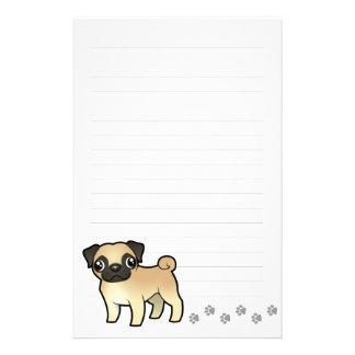 Cartoon Pug Customized Stationery