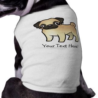 Cartoon Pug Dog Clothing
