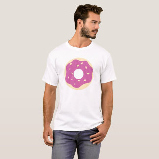Cartoon Purple Donut With Sprinkles T-Shirt