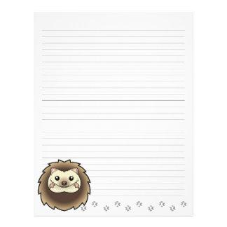 Cartoon Pygmy Hedgehog Letterhead Template
