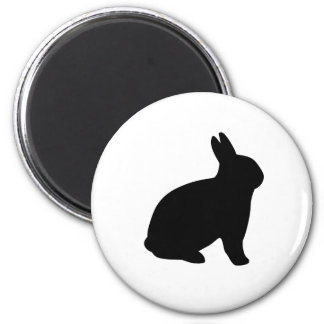 cartoon rabbit 2 inch round magnet