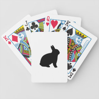 cartoon rabbit bicycle playing cards