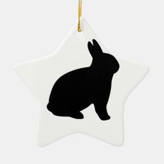 cartoon rabbit ceramic star ornament