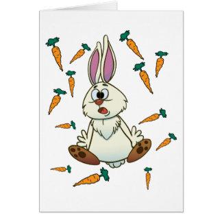 Cartoon Rabbit Greeting Card