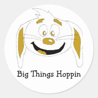 Cartoon Rabbit Hip Hop Fan Round Sticker