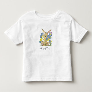 Cartoon Rabbit In Flower Patch Toddler T-shirt