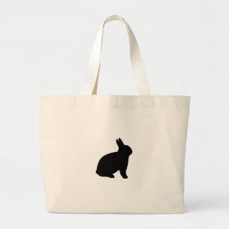 cartoon rabbit large tote bag