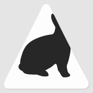 cartoon rabbit triangle sticker