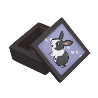Cartoon Rabbit (uppy ear smooth hair) Premium Trinket Boxes