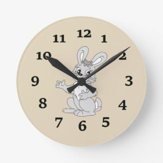Cartoon Rabbit Wallclocks