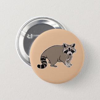 Cartoon Raccoon 2 Inch Round Button