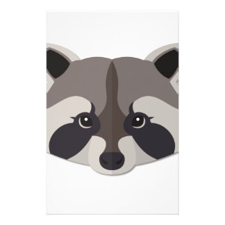 Cartoon Raccoon Head Stationery