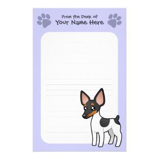 Cartoon Rat Terrier / Toy Fox Terrier Stationery