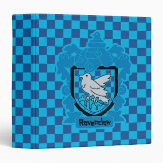 Cartoon Ravenclaw Crest 3 Ring Binder