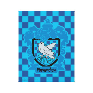 Cartoon Ravenclaw Crest Canvas Print