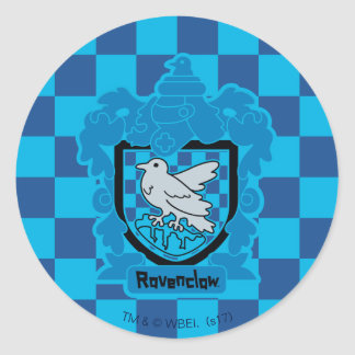 Cartoon Ravenclaw Crest Classic Round Sticker