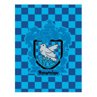 Cartoon Ravenclaw Crest Postcard