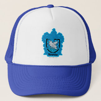Cartoon Ravenclaw Crest Trucker Hat