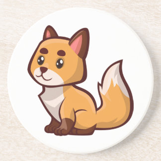 Cartoon Red Fox Coaster