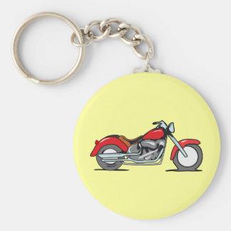Cartoon Red MotorCycle - MotorBike Keychain