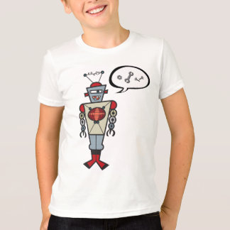 Cartoon Retro Robot Cute Kids Boy Birthday Party T-Shirt
