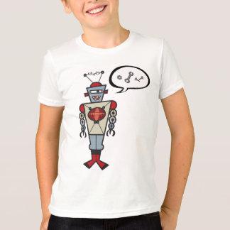 Cartoon Retro Robot Cute Kids Boy Birthday Party Tee Shirt
