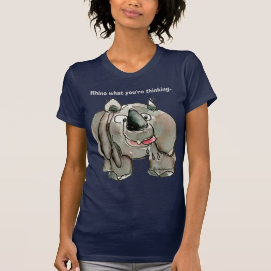 Cartoon Rhino Custom Dark T-shirt / Apparel