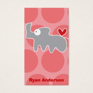Cartoon Rhino Kid Fun Custom Photo Profile Card