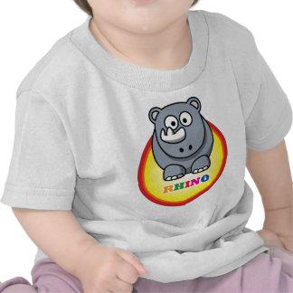 Cartoon Rhino T-shirts