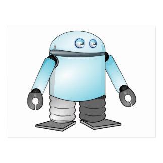 Cartoon Robot Postcard