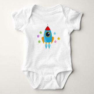 Cartoon Rocket Baby Bodysuit