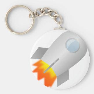 Cartoon Rocket Keychain