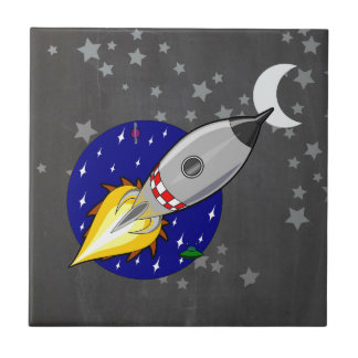 Cartoon Rocket Tile