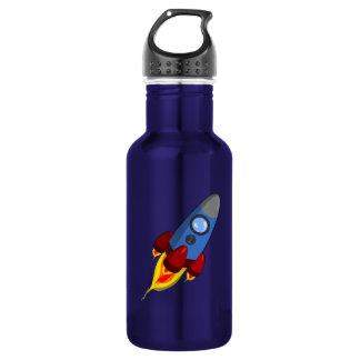 Cartoon Rocketship 532 Ml Water Bottle