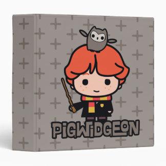 Cartoon Ron Weasley and Pigwidgeon Binders