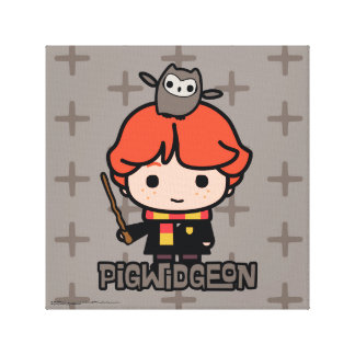 Cartoon Ron Weasley and Pigwidgeon Canvas Print