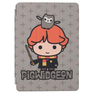 Cartoon Ron Weasley and Pigwidgeon iPad Air Cover