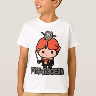 Cartoon Ron Weasley and Pigwidgeon T-Shirt