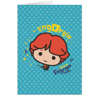 Cartoon Ron Weasley Engorgio Spell Card