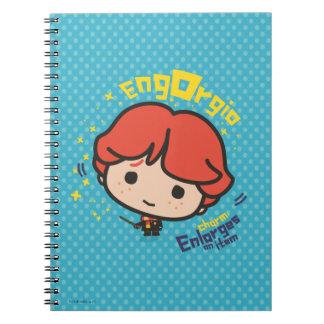 Cartoon Ron Weasley Engorgio Spell Notebooks
