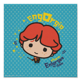 Cartoon Ron Weasley Engorgio Spell Poster