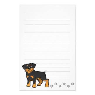 Cartoon Rottweiler Custom Stationery