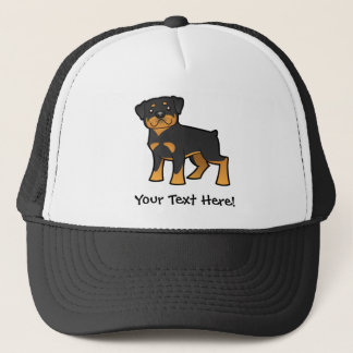 Cartoon Rottweiler Trucker Hat