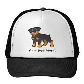 Cartoon Rottweiler Trucker Hat