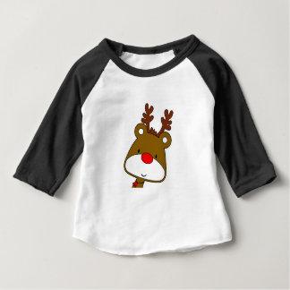 CARTOON RUDOLF CHRISTMAS THEME BABY T-Shirt