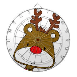 CARTOON RUDOLF CHRISTMAS THEME DARTBOARD