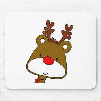 CARTOON RUDOLF CHRISTMAS THEME MOUSE PAD
