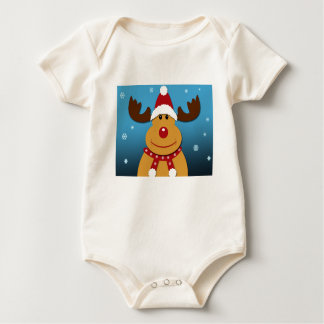 Cartoon Rudolph The Reindeer Christmas Gifts Baby Bodysuit
