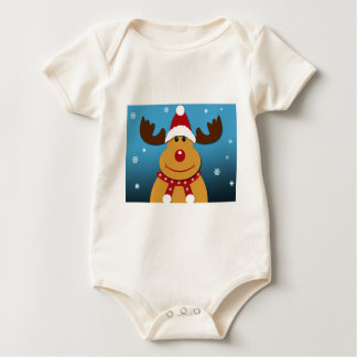 Cartoon Rudolph The Reindeer Christmas Gifts Baby Bodysuit